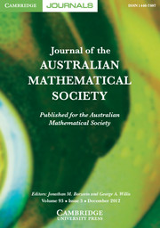 Journal of the Australian Mathematical Society Volume 93 - Issue 3 -