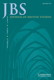 Journal of British Studies Volume 57 - Issue 4 -