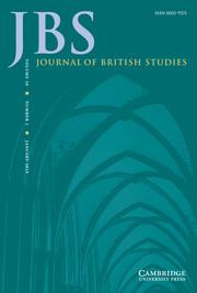 Journal of British Studies Volume 58 - Issue 1 -