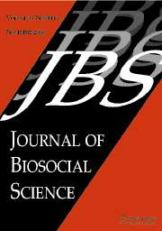 Journal of Biosocial Science Volume 38 - Issue 6 -