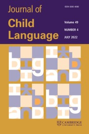 Journal of Child Language