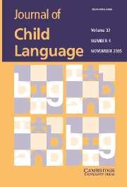 Journal of Child Language Volume 32 - Issue 4 -