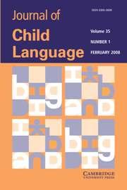 Journal of Child Language Volume 35 - Issue 1 -