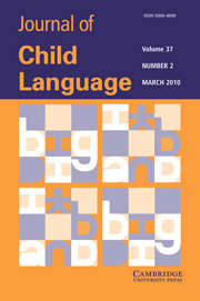 Journal of Child Language Volume 37 - Issue 2 -