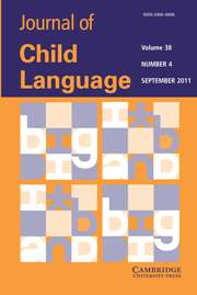 Journal of Child Language Volume 38 - Issue 4 -