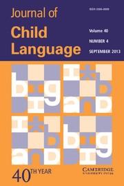 Journal of Child Language Volume 40 - Issue 4 -