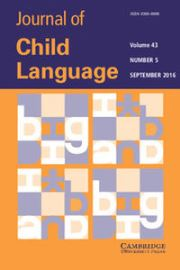 Journal of Child Language Volume 43 - Issue 5 -