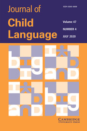 Journal of Child Language Volume 47 - Issue 4 -