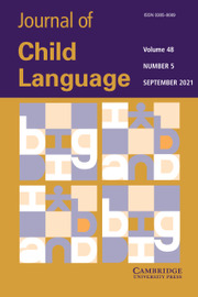 Journal of Child Language Volume 48 - Special Issue5 -  Special issue on Testable Theories of Core First Language Acquisition