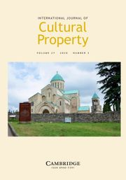 International Journal of Cultural Property Volume 27 - Issue 3 -