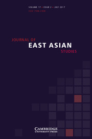 Journal of East Asian Studies Volume 17 - Issue 2 -