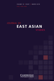 Journal of East Asian Studies Volume 18 - Issue 1 -