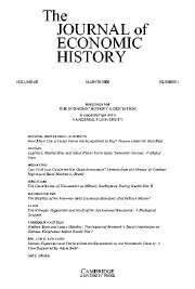 The Journal of Economic History Volume 68 - Issue 1 -