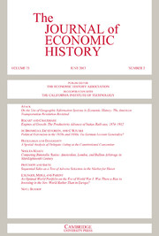The Journal of Economic History Volume 73 - Issue 2 -
