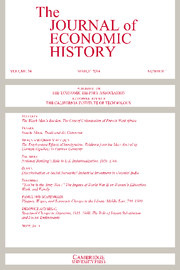 The Journal of Economic History Volume 74 - Issue 1 -