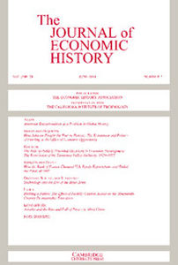 The Journal of Economic History Volume 74 - Issue 2 -