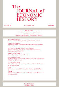 The Journal of Economic History Volume 74 - Issue 3 -