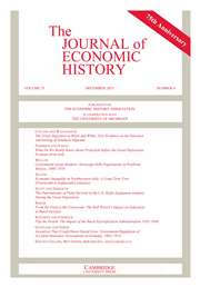 The Journal of Economic History Volume 75 - Issue 4 -