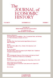 The Journal of Economic History Volume 76 - Issue 4 -