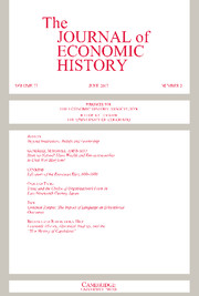 The Journal of Economic History Volume 77 - Issue 2 -