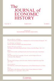 The Journal of Economic History Volume 79 - Issue 1 -