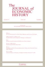 The Journal of Economic History Volume 79 - Issue 2 -