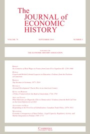 The Journal of Economic History Volume 79 - Issue 3 -