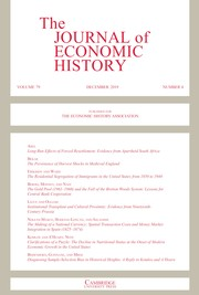 The Journal of Economic History Volume 79 - Issue 4 -