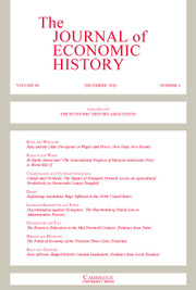 The Journal of Economic History Volume 80 - Issue 4 -