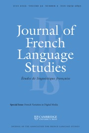 Journal of French Language Studies