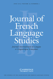 Journal of French Language Studies Volume 23 - Issue 2 -