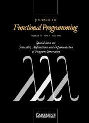 Journal of Functional Programming Volume 13 - Issue 3 -