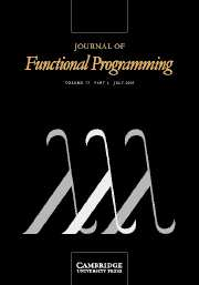 Journal of Functional Programming Volume 13 - Issue 4 -