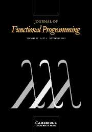 Journal of Functional Programming Volume 13 - Issue 6 -