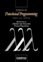 Journal of Functional Programming Volume 14 - Issue 1 -