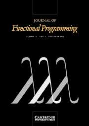 Journal of Functional Programming Volume 14 - Issue 5 -