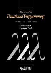 Journal of Functional Programming Volume 14 - Issue 6 -