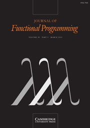 Journal of Functional Programming Volume 20 - Issue 2 -