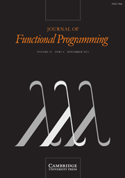 Journal of Functional Programming Volume 21 - Issue 6 -