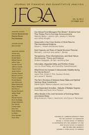 Journal of Financial and Quantitative Analysis Volume 45 - Issue 5 -
