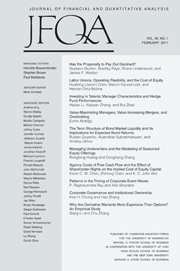 Journal of Financial and Quantitative Analysis Volume 46 - Issue 1 -