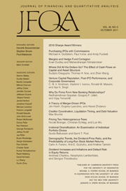 Journal of Financial and Quantitative Analysis Volume 46 - Issue 5 -