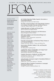 Journal of Financial and Quantitative Analysis Volume 48 - Issue 1 -