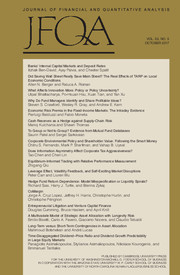 Journal of Financial and Quantitative Analysis Volume 52 - Issue 5 -