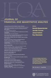 Journal of Financial and Quantitative Analysis Volume 53 - Issue 2 -