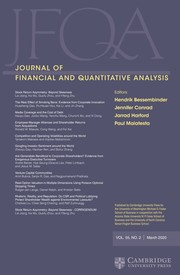 Journal of Financial and Quantitative Analysis Volume 55 - Issue 2 -