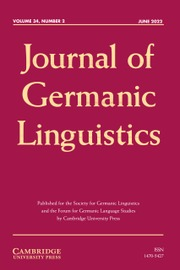 Journal of Germanic Linguistics