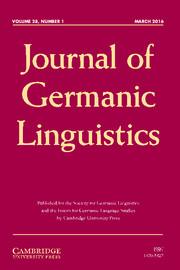 Journal of Germanic Linguistics Volume 28 - Issue 1 -