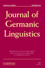 Journal of Germanic Linguistics Volume 28 - Issue 3 -