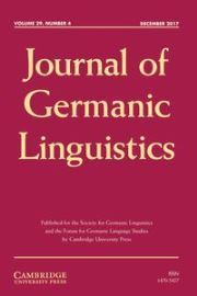 Journal of Germanic Linguistics Volume 29 - Issue 4 -